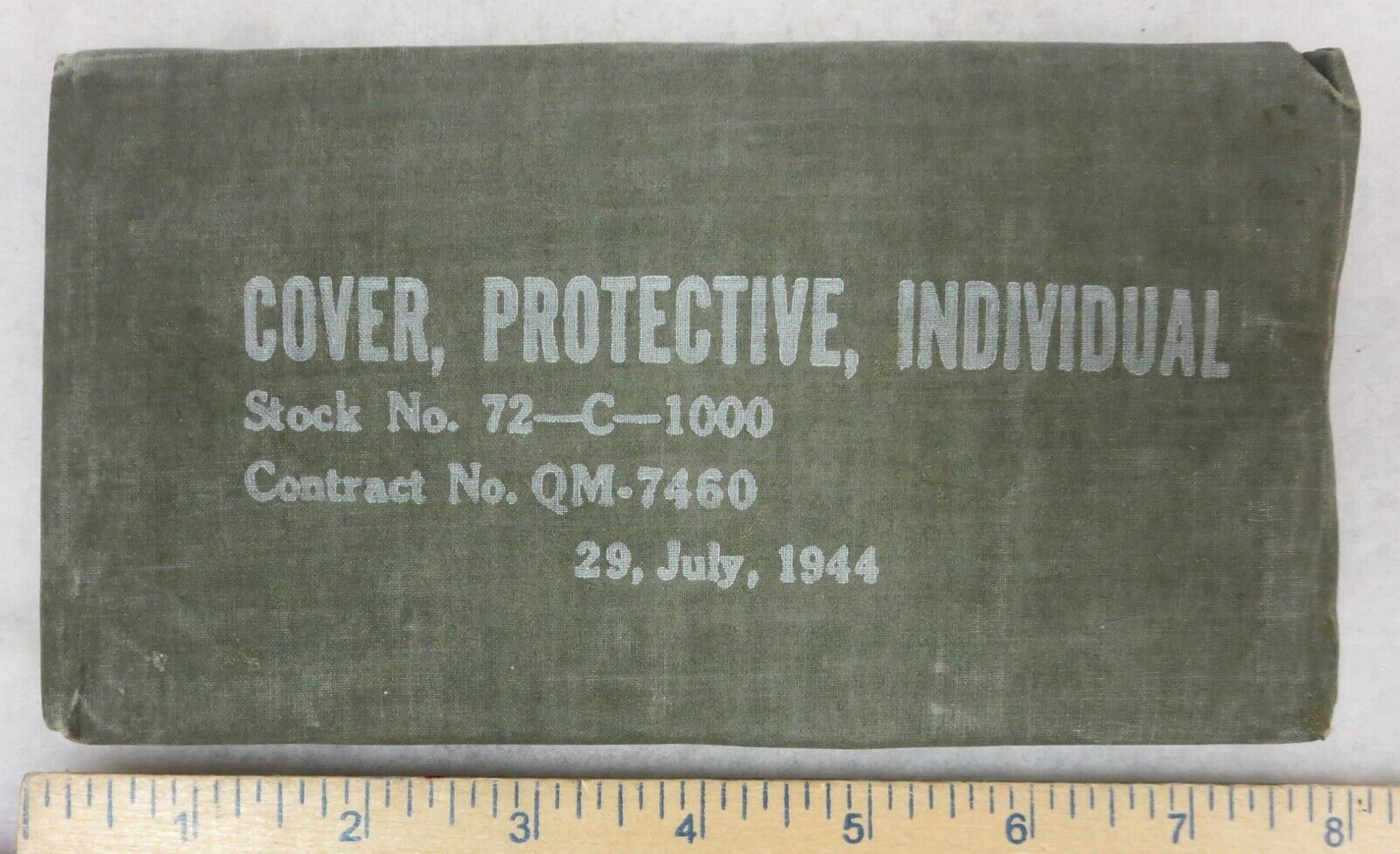 1944 Dated WW2 Vintage US G.I. Issue BLISTER GAS PROTECTIVE COVER Unused - $14.95