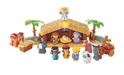 Fisher-Price Little People Christmas Story Figures Play Set