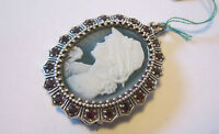 Maxi Cameo In Argento Maxi Cameo Sterling Silver Brooch Or Pendant. -  - ebay.it