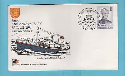 R N L I Cover Series Cover No 8 - Jersey 150th Anniversary Stamp