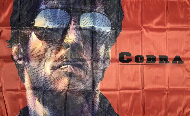 Cobra Sylvester Stallone Flag 3x5 ft Red Banner 1980