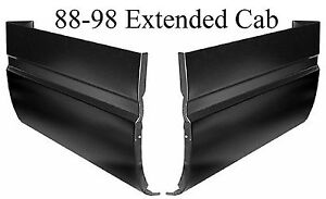 88 98 CHEVY EXTENDED Cab Corner Set GMC Full Repair Panels Corners, 1.2MM Thick!