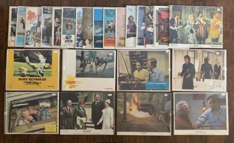 Lot of 116 COMEDY 11X14 Movie Lobby Cards Hair The End Harper Valley PTA Vintage