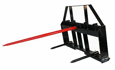 Titan Attachments Fork Attachment Universal Skid Steer Hay Spear Heavy Duty