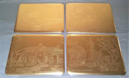 Vintage Gold Coloured Embossed Placemats