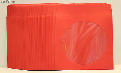 1000 Generic Red Color Cddvd Video Game Paper Sleeve Envelope With Window Flap