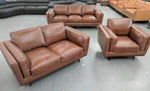 Leather Sofas - BRAND NEW - 60% off RRP - Factory Outlet Warehous
