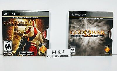 Sony PSP ~ GOD OF WAR 2-PACK ~Chains of Olympus, Ghost of Sparta~ Full Games NEW