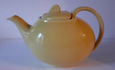 Vintage hall Yellow /Gold Tea Pot Small Art Deco