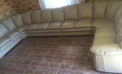 Huge 11 seater Demir Leather Lounge 100% Leather Sofa lounge modular