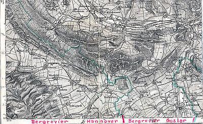 Bad Salzdetfurth Holle Bockenem 1906 bearbeitete Teilkarte/Ln. Diekholzen Sehlem