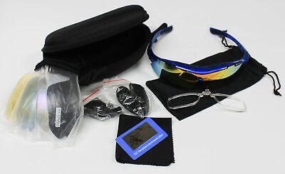 KuKoTi Sport Fahrad Sonnenbrille 5 Linsen UV400 Schutz  Fahren