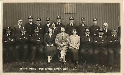 Builth Wells Post Office Staff # 1.A by Wallace Jones's Studio.