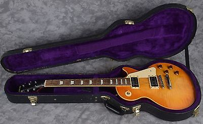 2004 Epiphone Les Paul Elitist Honey Burst Electric Guitar + Hard Case Japan