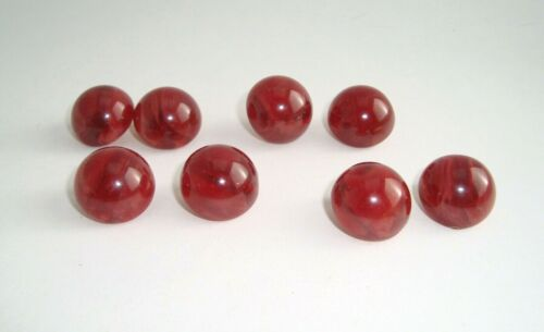 Lot of 4 Vintage Cranberry Red Color Bakelite Clip On Earrings