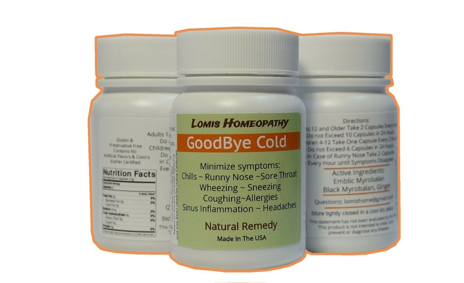 GoodBye Cold: Cold, Allergy, Natural Organic Cold Medicine 2