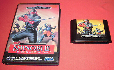 Megadrive 1 & 2 Shinobi III Return of the Ninja Master [PAL] 3 Sega *JRF*