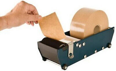 Excell Gummed Paper Tape Dispenser 3 In Wide Wide Pull Tear Type Sturdy Blue