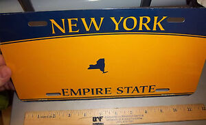 New York Novelty license plate w/ gold background, i will add your wording