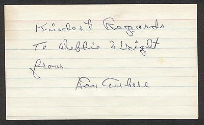 Lou Ambers LIGHTWEIGHT BOXING CHAMPION Signed 3x5 Index Card COA