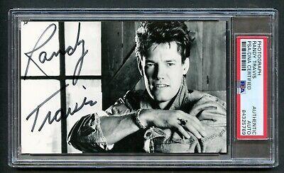 Randy Travis signed autograph auto 4x6 Photo Country Music Legend PSA Slabbed