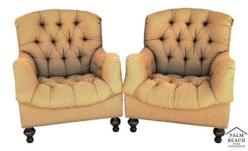 THOMASVILLE ERNEST HEMINGWAY WALDEN 462 Deep Tufted Lounge Chairs - A Pair