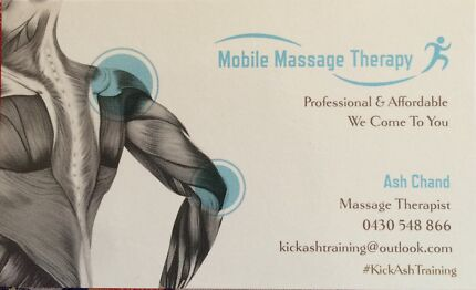 Mobile Massage Therapy  Glenfield Campbelltown Area Preview