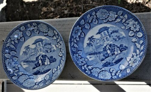 Two Small Staffordshire Bowls, Worcester Ca.1790,  Early Crescent Mark, Nice!