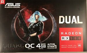 ASUS RX580 4GB Video Card - Excellent condition