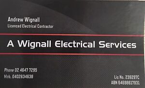 A Wignall Electrical Services Campbelltown Campbelltown Area Preview