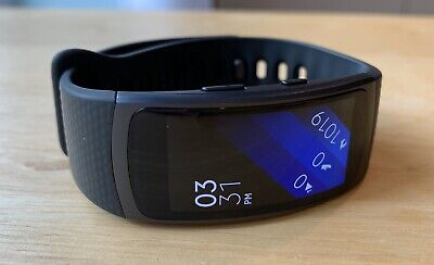 MINT SAMSUNG GEAR FIT 2 SM-R360 SMARTWATCH BLACK ACTIVITY TRACKER HEART - LARGE