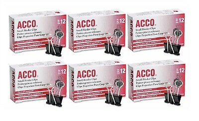 Acco - Binder Clips Small 12 Count Pack Of 6