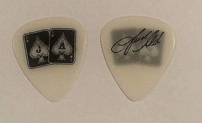 Jason Aldean   Guitar Pick White Black 2015 Tour Jacks   Aces Country
