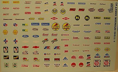 GOFER RACING SPONSOR SET 3 WATER SLIDE DECALS FOR 1:24 AND 1:25 SCALE MODEL CARS