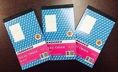 3 Pack: 2 part Carbonless Sales Order Books Receipt Form Invoice 50 Set 4.5x7.5
