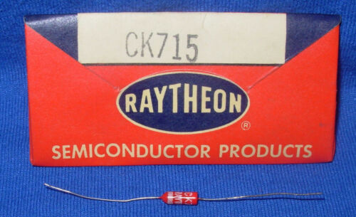 NOS / NIB Early Red Raytheon CK715 Diode