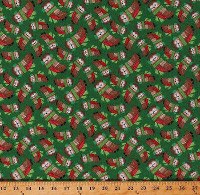 Cute Owls Birds Ear Muffs Christmas Holiday Kids Cotton Fabric Print BTY D508.43](Christmas Ear Muffs)