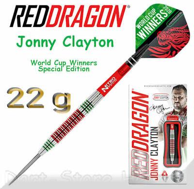 "2273 RED DRAGON Steeldarts JONNY CLAYTON ""WORLD CUP WINNING EDITION"", 22g"