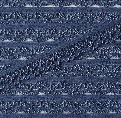 3 m elastische Wäschespitze blau 11 mm 1,33 Euro/m Blau 11