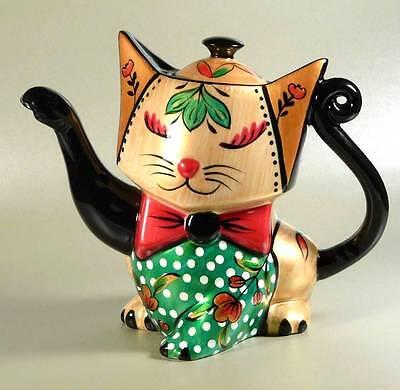 Design Teekanne Katze Maneki Neko Punkte Jameson&Tailor