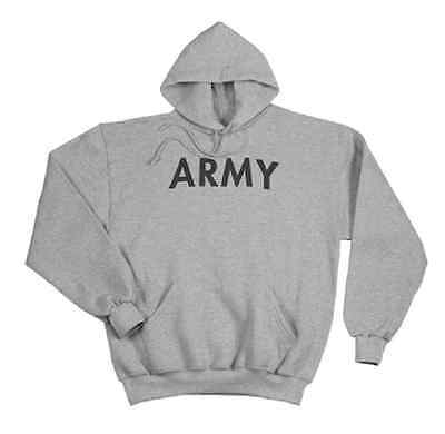 Rothco 9189 Grey Army Pullover Hooded Sweatshirt - Grey