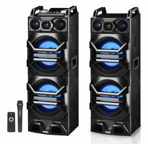 "Technical Pro Dual 10"" 3000w Bluetooth Karaoke System PAIR (2) w/USB/SD/LED+Mic"