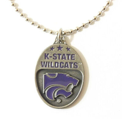 KANSAS STATE WILDCATS LARGE PENDANT NECKLACE 24215 new college sports jewelry