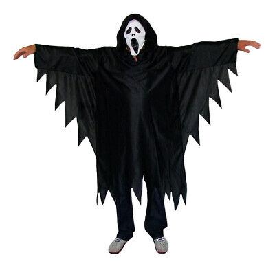 Scream Horror Dämon Kostüm für Kinder mit Maske - Scream Kostüme Kinder