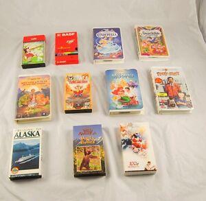 Lot-of-11-Children-VHS-VCR-Movies-LULU-Disney-Fantasia-Wild-America-Alaska-S3G39