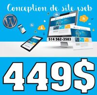 CONCEPTION SITE WEB DESIGN - HÉBERGEMENT 1 AN Gratuit 449-