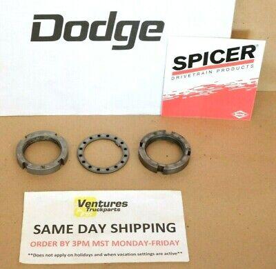 Front Spindle Nut Kit Dodge Dana 44 Ramcharger Front 80-93 OEM Dana Spicer