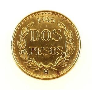 Mexican Dos Pesos Gold Coin