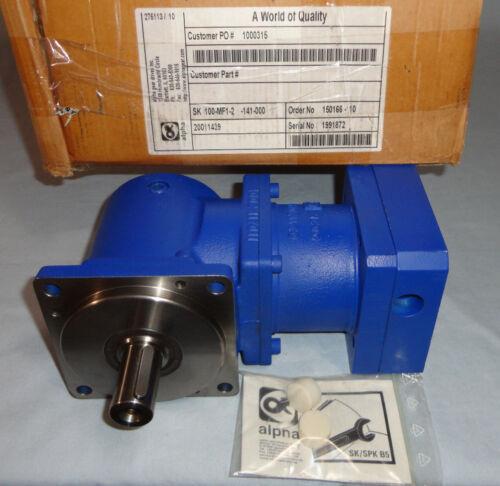 Alpha Gear Drives SK 100-MF1-2-141-000 Gearhead SK100MF12141000 Gearbox NEW