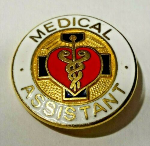 MEDICAL ASSISTANT ~ NICE MEDICAL ASSISTANT ENAMEL LAPEL PIN